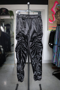 SATIN ROUCHED JOGGER PANT