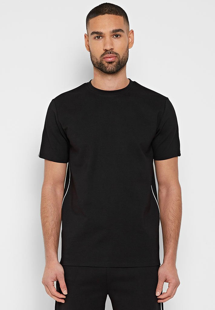 Luxe Piped Shirt - Black