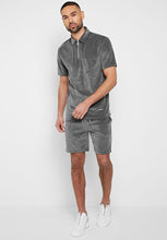 Towelling Shorts - Gray