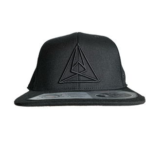 Black on Black Seismic Snapback Hat