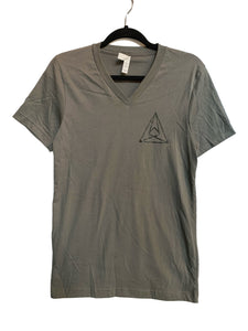 Seismic Gray V-Neck w/ Black Triangle Logo (Unisex)