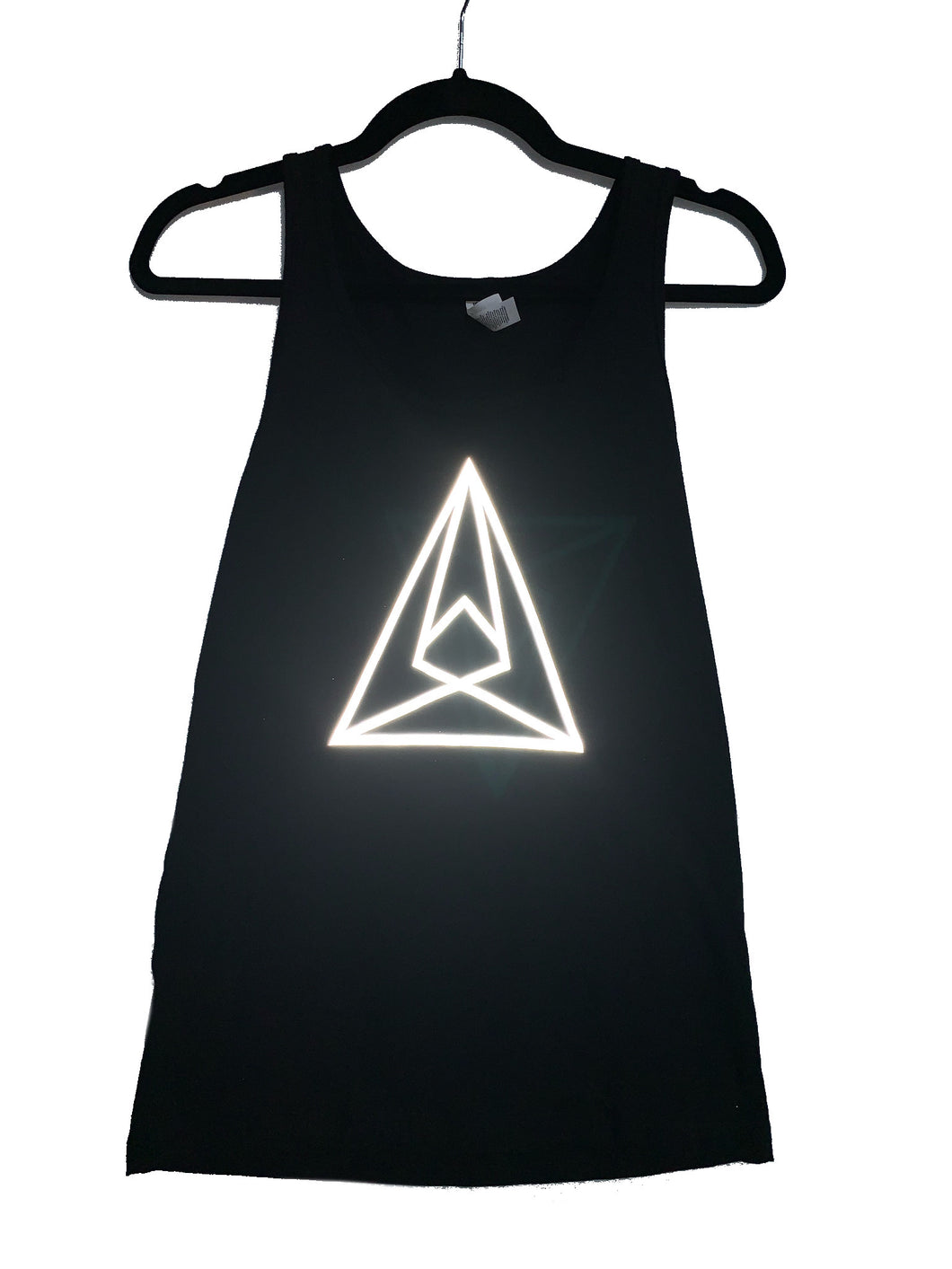 Seismic Men's Tank in Black w/ Reflective Silver Symbol