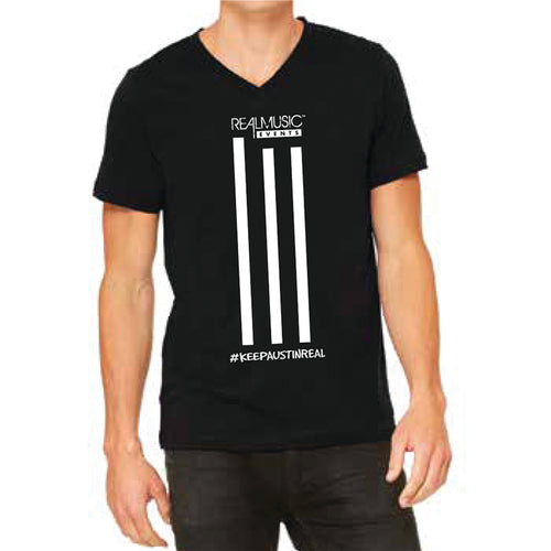 The 3 Stripe Design Collection: Unisex V-Neck T-shirt