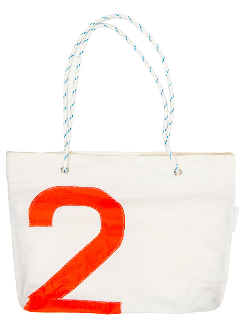 Beach Bag - Neutral / Red