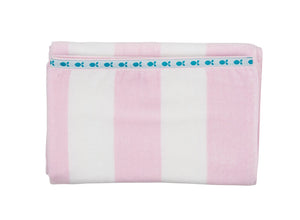 Beach Towels - Pink/White Stripe