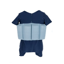 Buoyancy Suit - Navy with Pale Blue Stripe Swimwear for kids