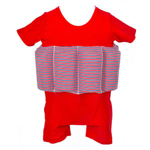 Buoyancy Suit - Red with Navy Blue Stripe Swimwear for kids