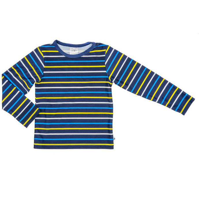 Rash Vest Long Sleeve  - Navy/Yellow Stripe