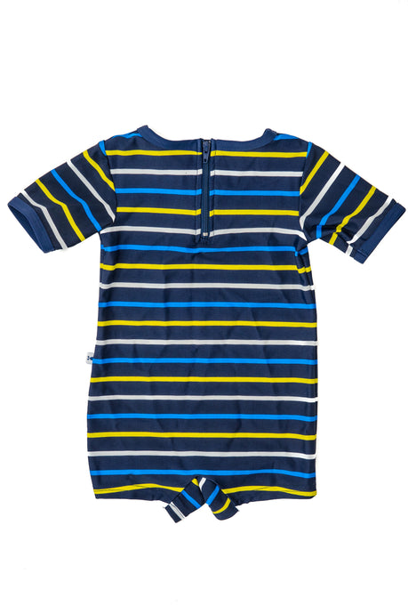 Onesie - Navy & Yellow Stripe