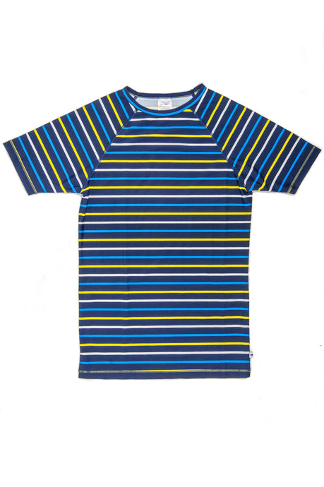 Rash Vest - Navy & Yellow Stripe