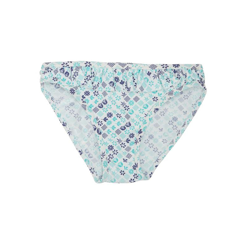 Ruffled Bikini Bottom - Blue Diamond