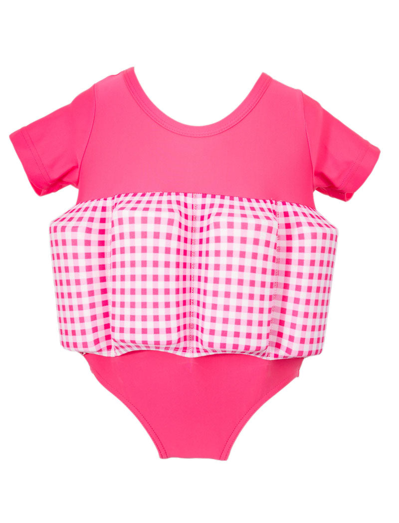 Buoyancy Suit - Pink Gingham