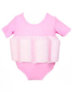Buoyancy Suit - Pink with Pink Snowflake