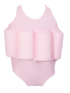 Buoyancy Suit - Pink Snowflake Swimwear for kids