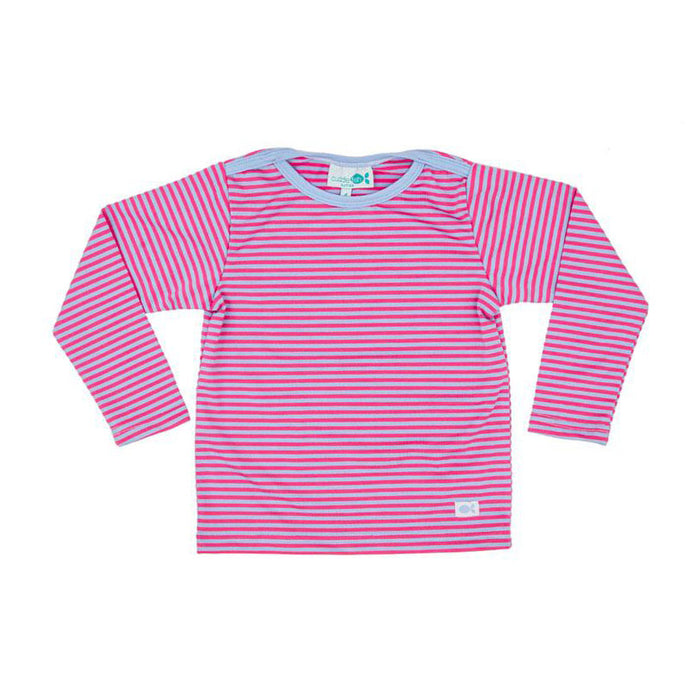 Rash Vest Long Sleeve - Lollipop Pink Stripe