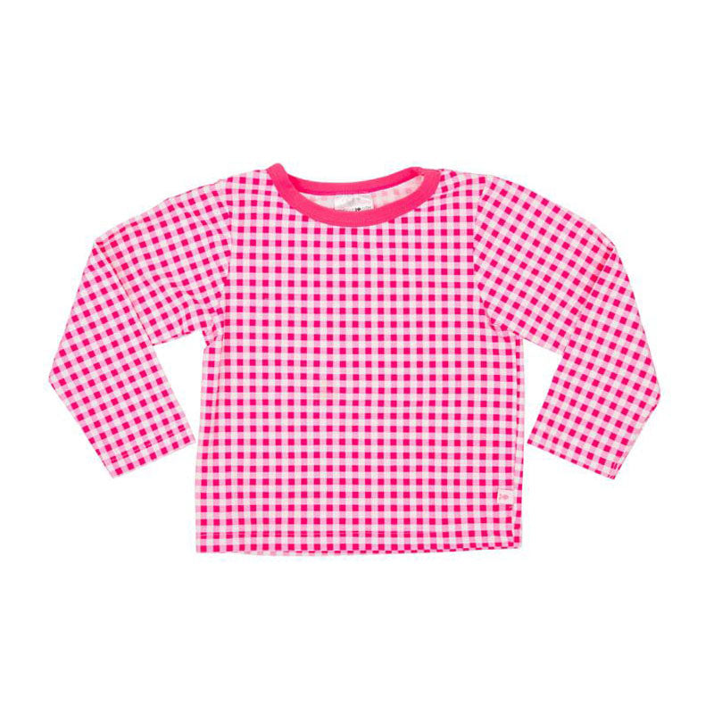 Rash Vest Long Sleeve UV Tee - Pink Gingham