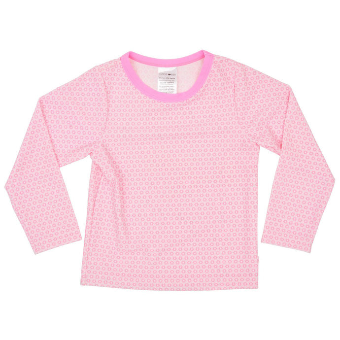 Rash Vest Long Sleeve UV Tee - Pink Snowflake