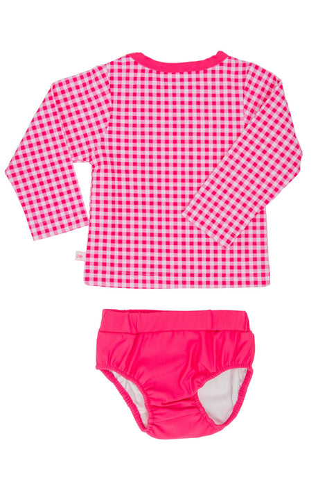 Swimming Nappy Set- Pink Gingham