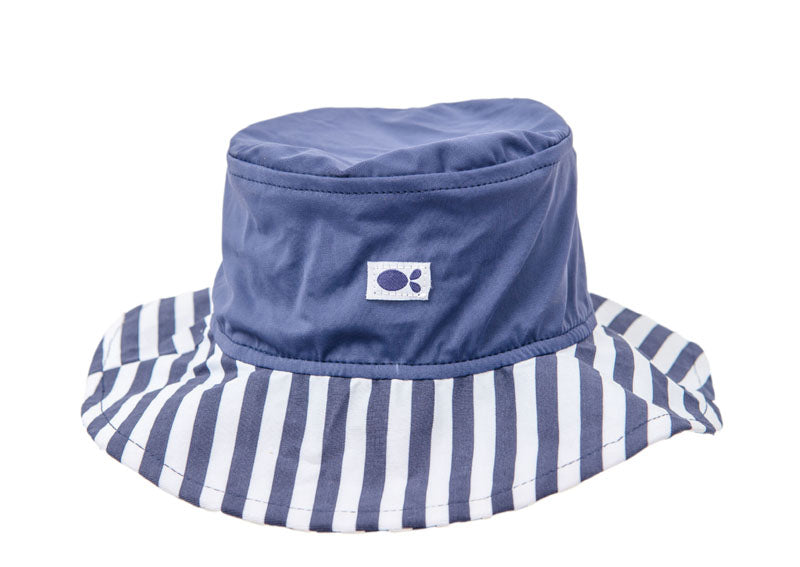 UV Hat - Navy  white stripe