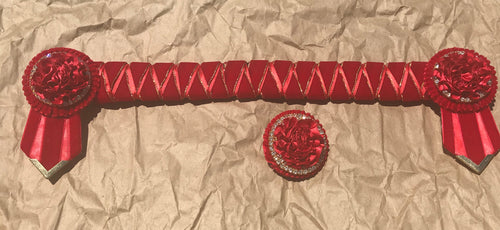 Red velvet Browband full size w/ lapel