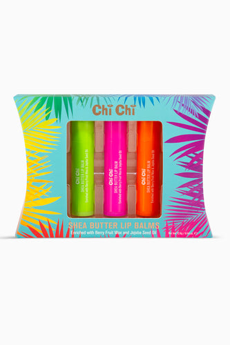 Shea Butter Lip Balm Trio - Lime, Strawberry, Mandarin
