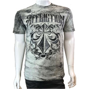 Affliction - Mens - Eroded Short Sleeved Tee - Light Grey
