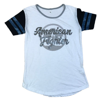 American Fighter - Womens - Paine Short Sleeved Tee - White