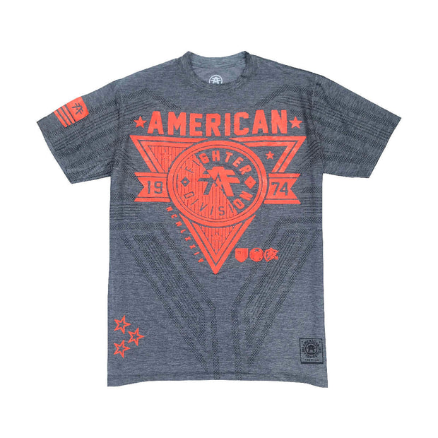 American Fighter Siena Heights Mesh T-Shirt In Gray