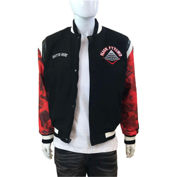 Black Pyramid - Mens - Rocket Ship Varsity Jacket - Black