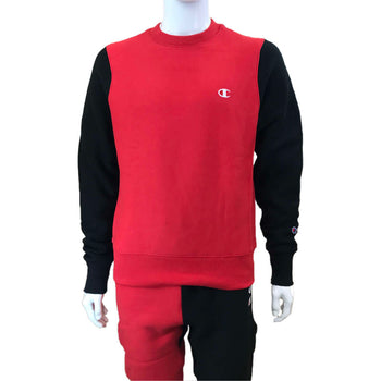 Champion - Mens - Reverse Weave Colorblock Crew - Red