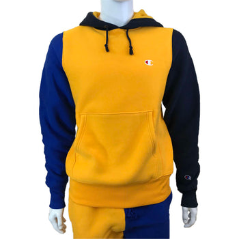 Champion - Mens - Reverse Weave Colorblock Hoodie - Gold