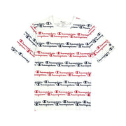 Champion LG Script Stripe T-Shirt White & Red