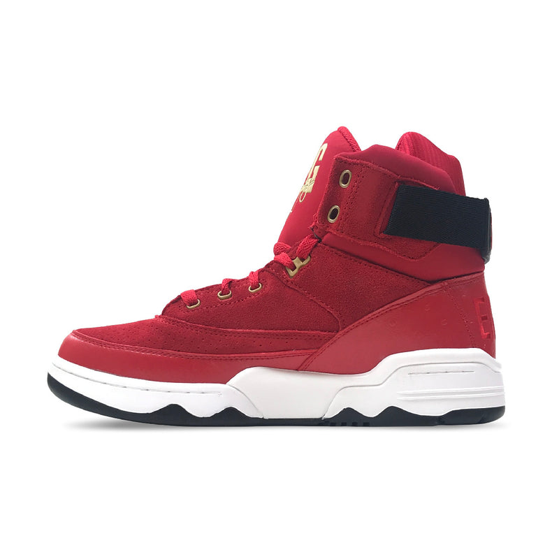 Ewing Athletics 33 Hi Red & Black & White & Gold Shoes - PremierVII