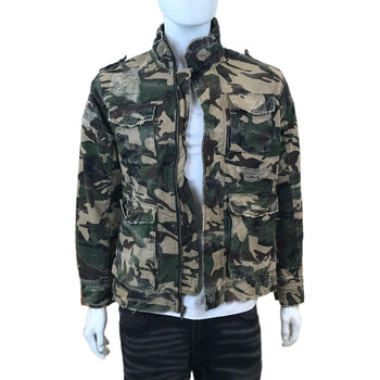 Jordan Craig - Mens - Stone Washed And Shredded Camo Jacket - Woodland