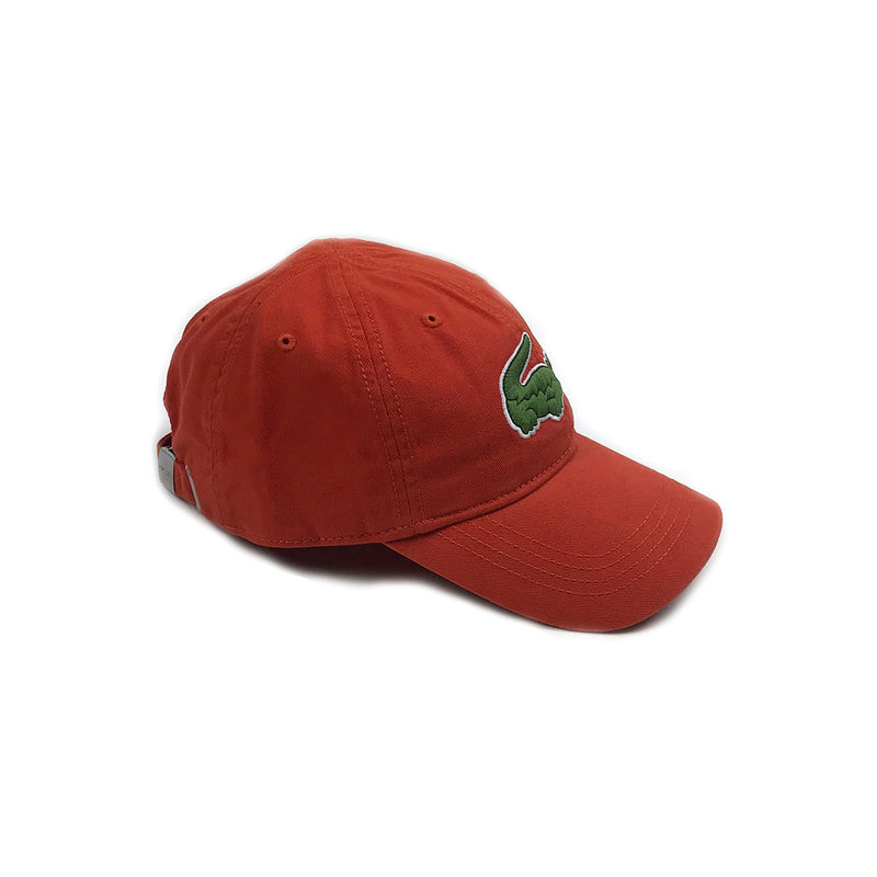 Lacoste Big Croc Garbadine Hat Colorado Orange