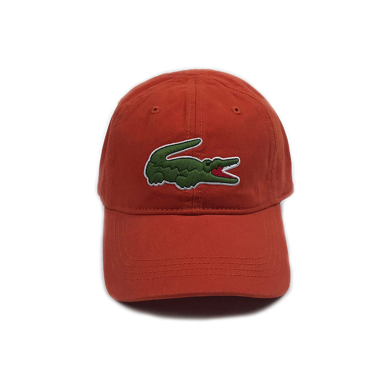 Lacoste Big Croc Garbadine Hat Colorado Orange Front
