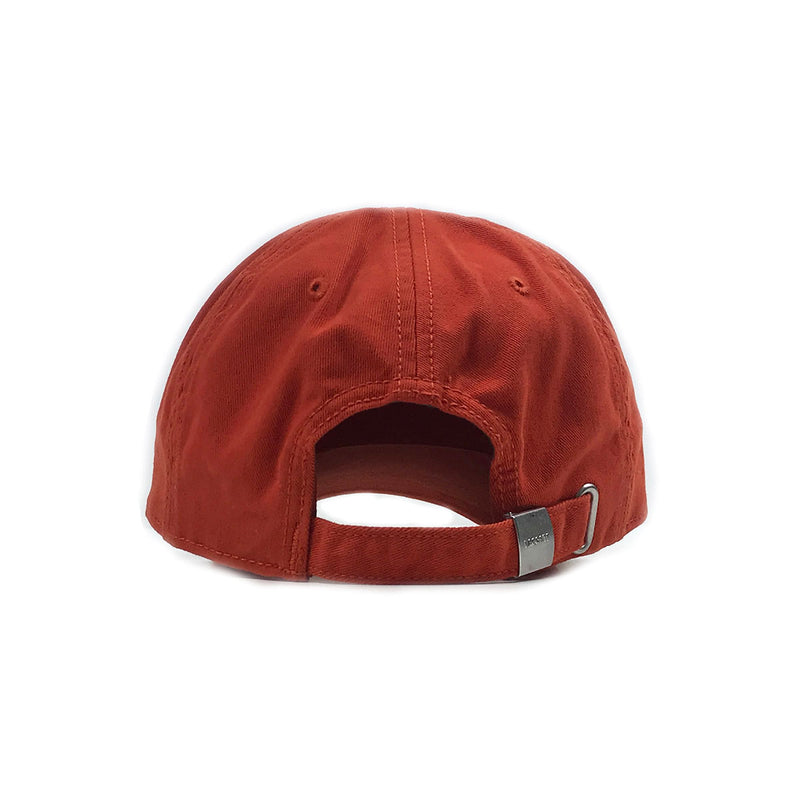 Lacoste Big Croc Garbadine Hat Colorado Orange Back