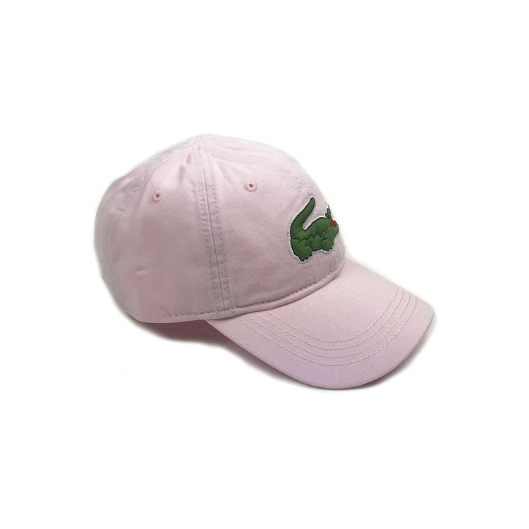 Lacoste Big Croc Garbadine Hat Flamingo Pink