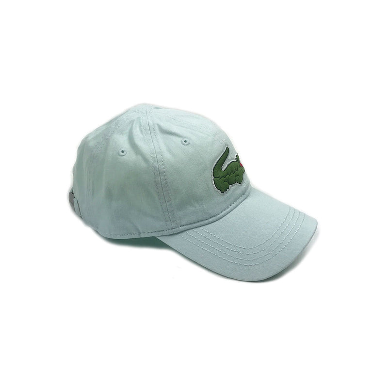 Lacoste Big Croc Garbadine Hat Forst Blue