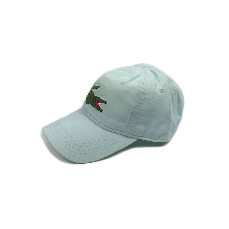 Lacoste Big Croc Garbadine Hat Forst Blue Left