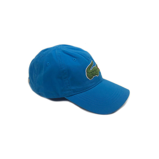 Lacoste Big Croc Garbadine Hat Plane Blue