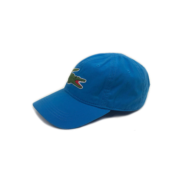 Lacoste Big Croc Garbadine Hat Plane Blue Left