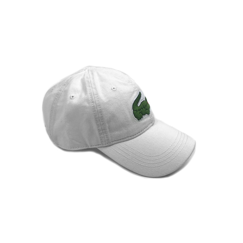 Lacoste Big Croc Garbadine Hat White