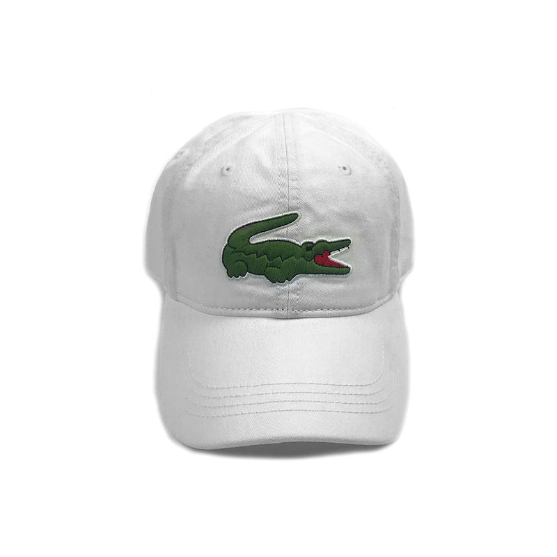 Lacoste Big Croc Garbadine Hat White Front