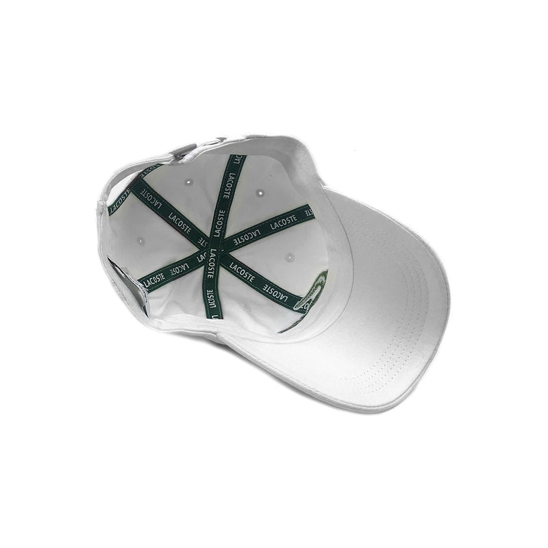 Lacoste Big Croc Garbadine Hat White Inside
