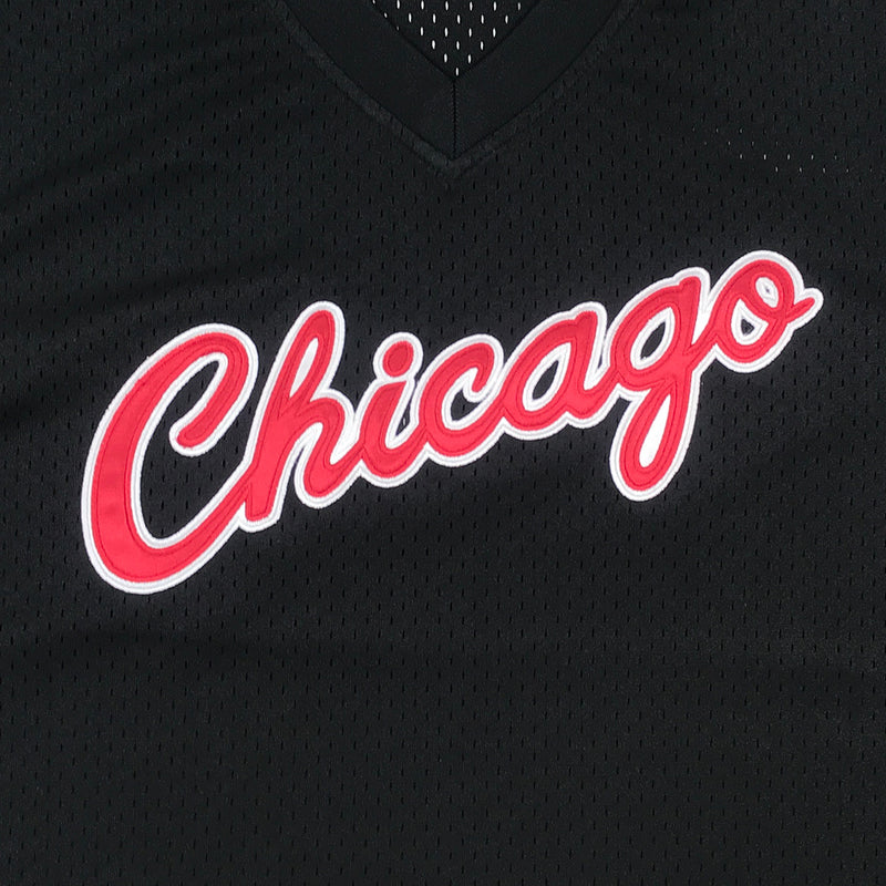 Mitchell & Ness Chicago Bulls Mesh Jersey Logo Black