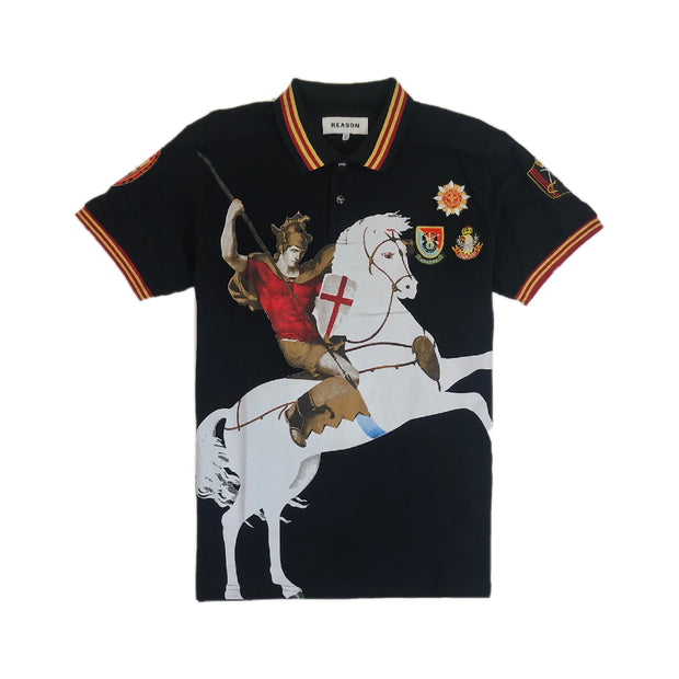 Reason - Mens - Horseman Polo - Black