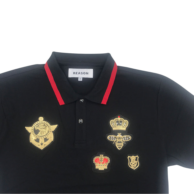 Reason Richmond Polo Shirt Chest Patches