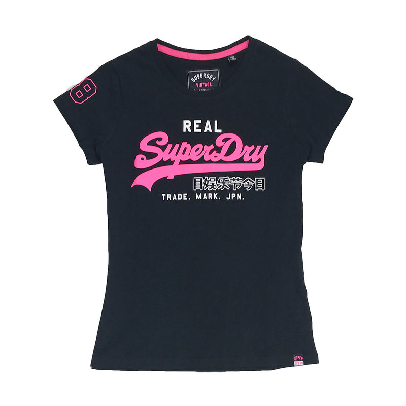 Superdry Vintage Logo Duo Entry Tee Black