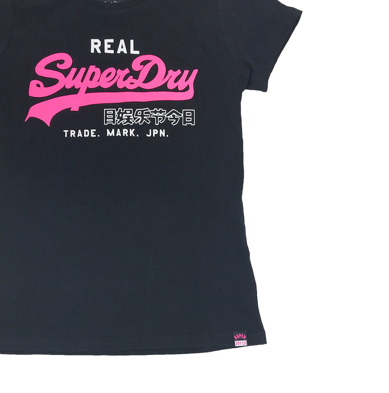 Superdry Vintage Logo Duo Entry Tee Black Waist